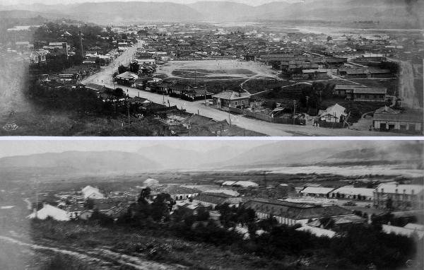 1920년대 회령시내 모습. 김약연 선생 증손자 김재홍 제공
